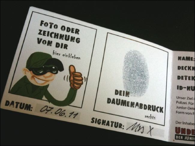 detektiv ausweis kinder